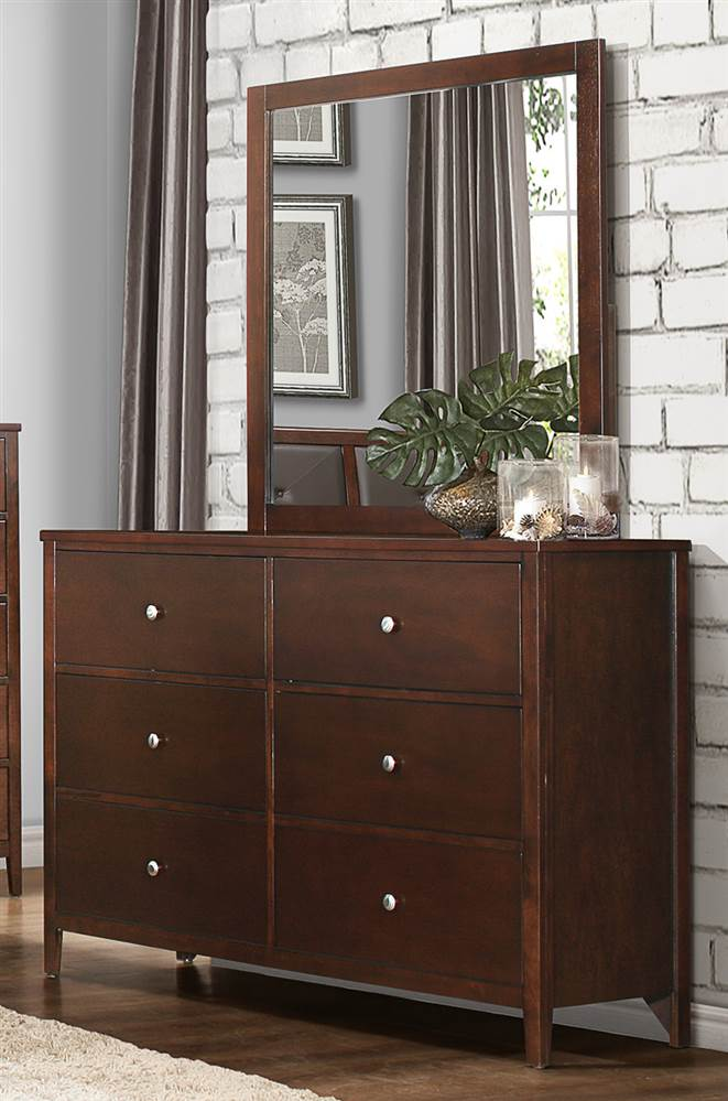 Picture of: Dresser Brown and Mirror Set