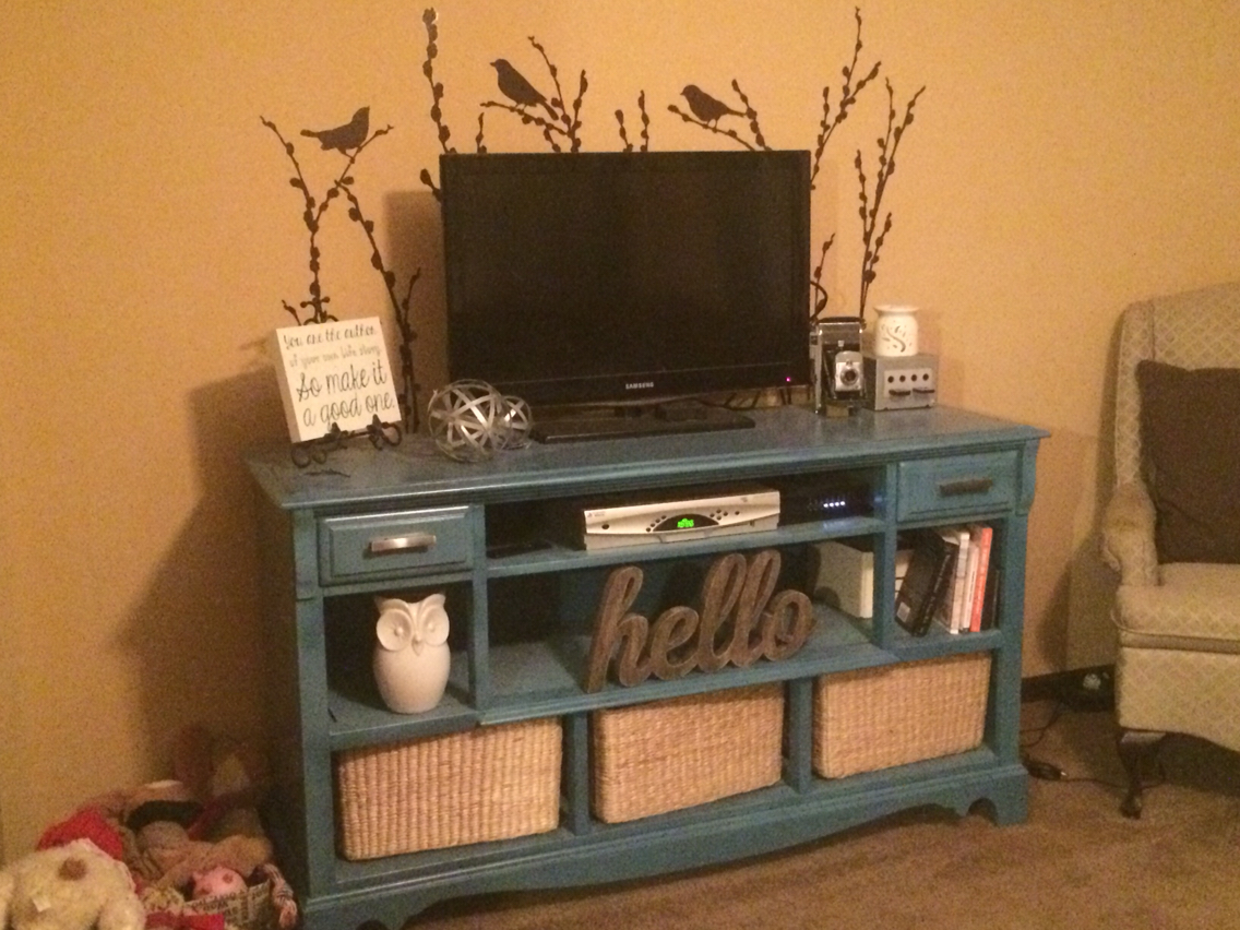 Image of: Dresser Entertainment Center Diy