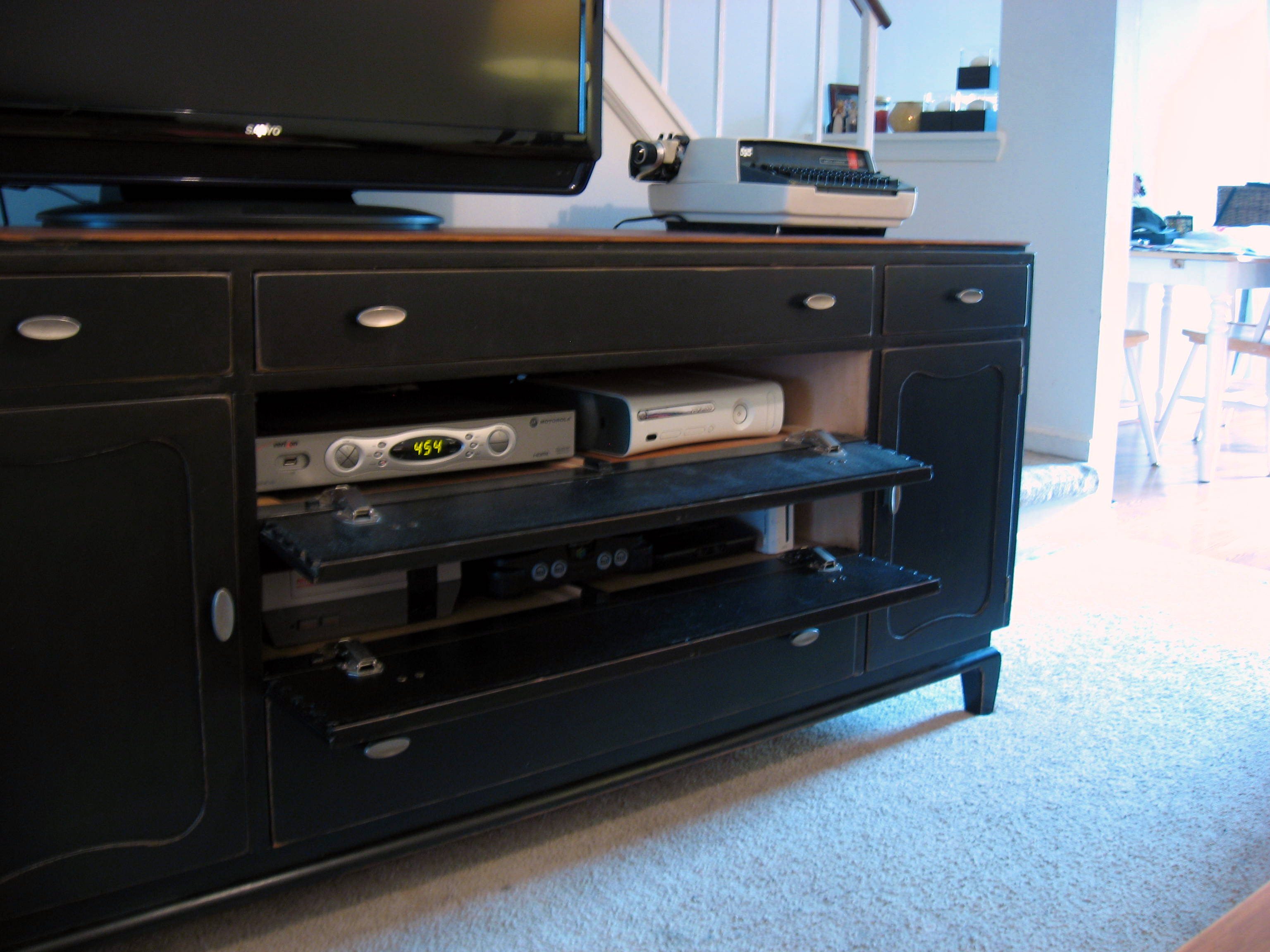Picture of: Black Dresser TV Stand IKEA