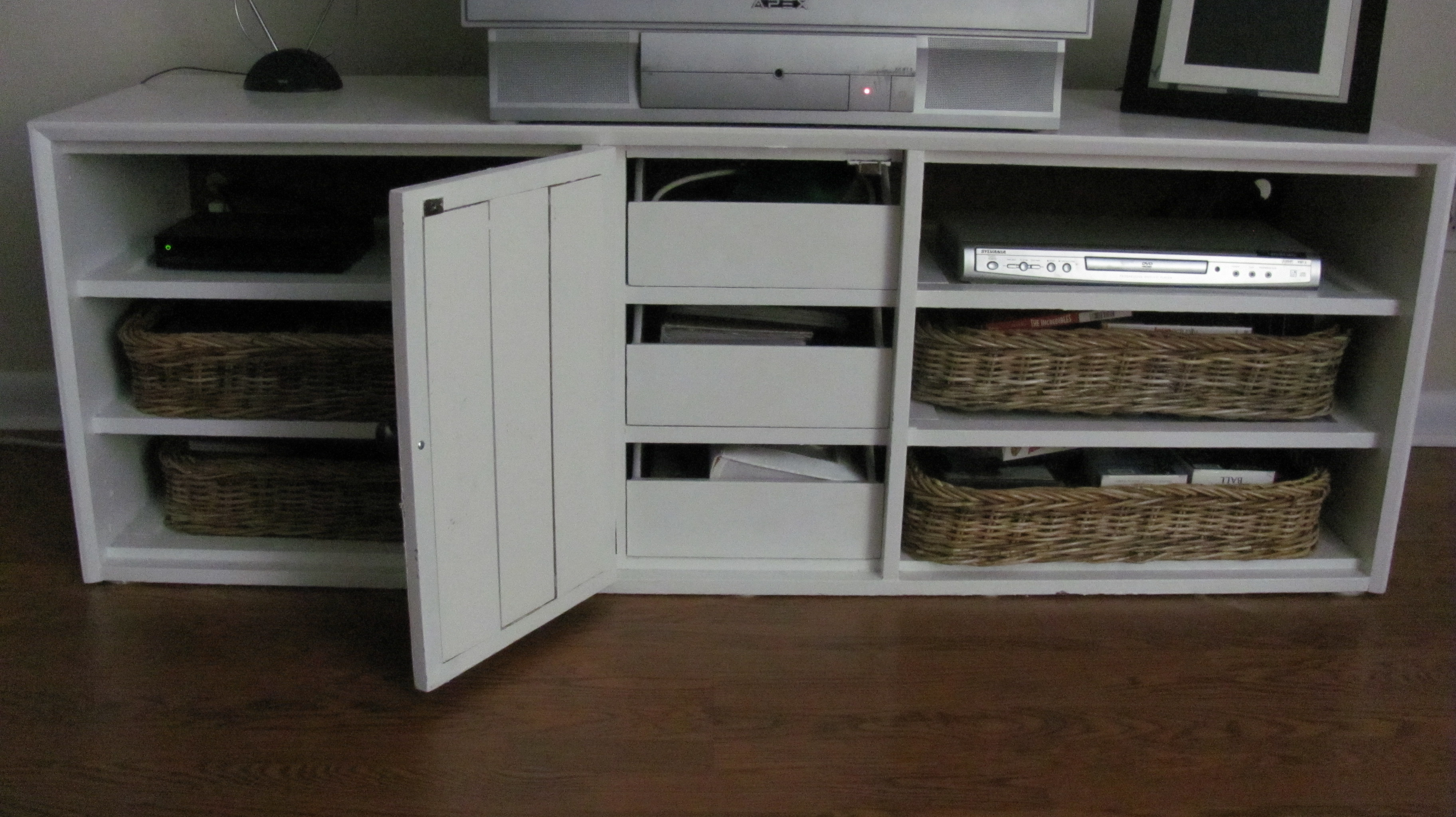 Picture of: Dresser Top TV Stand Decors