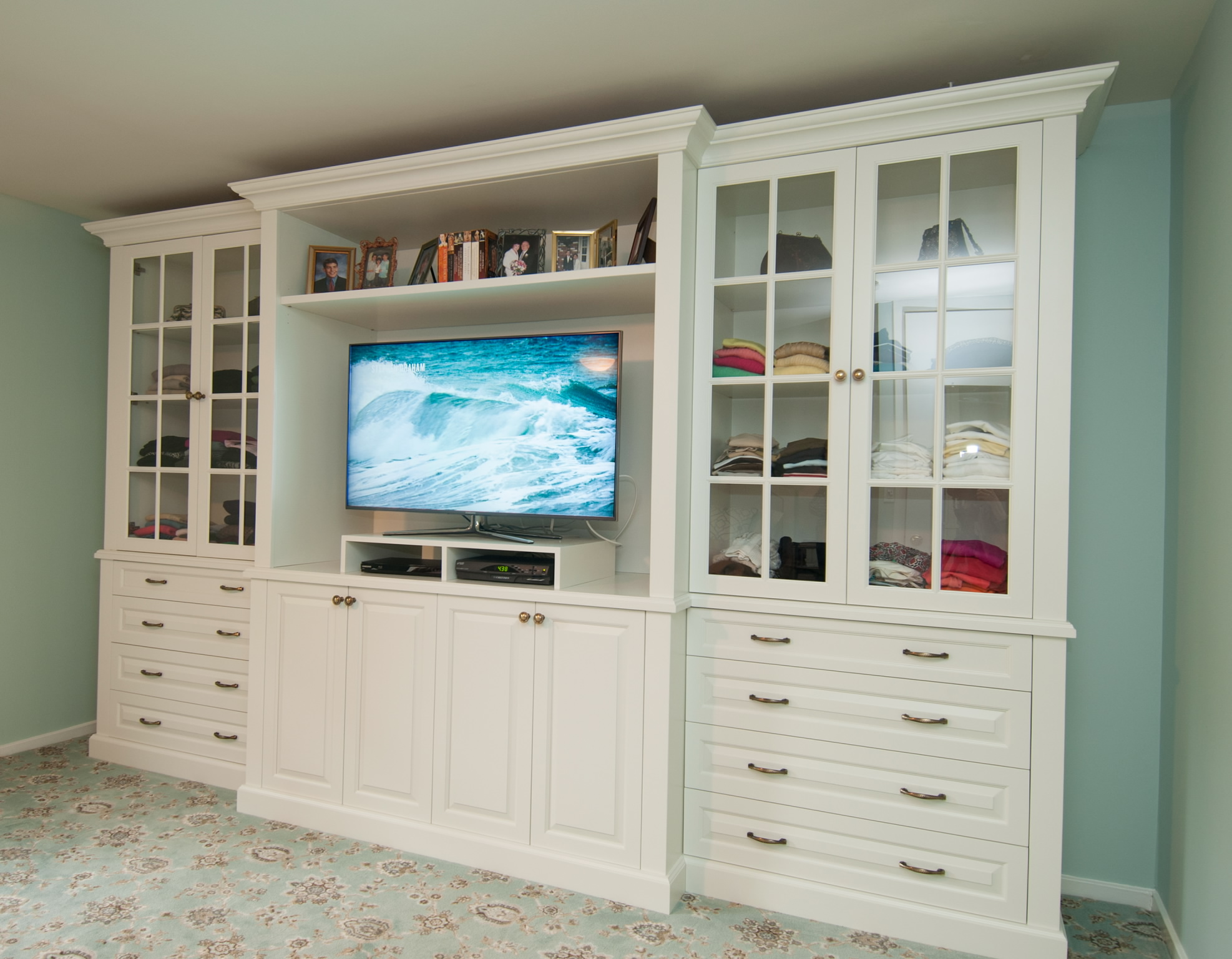Picture of: Dresser Top TV Stand Style