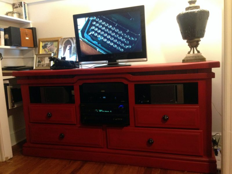 Image of: Dresser Top Tv Stand
