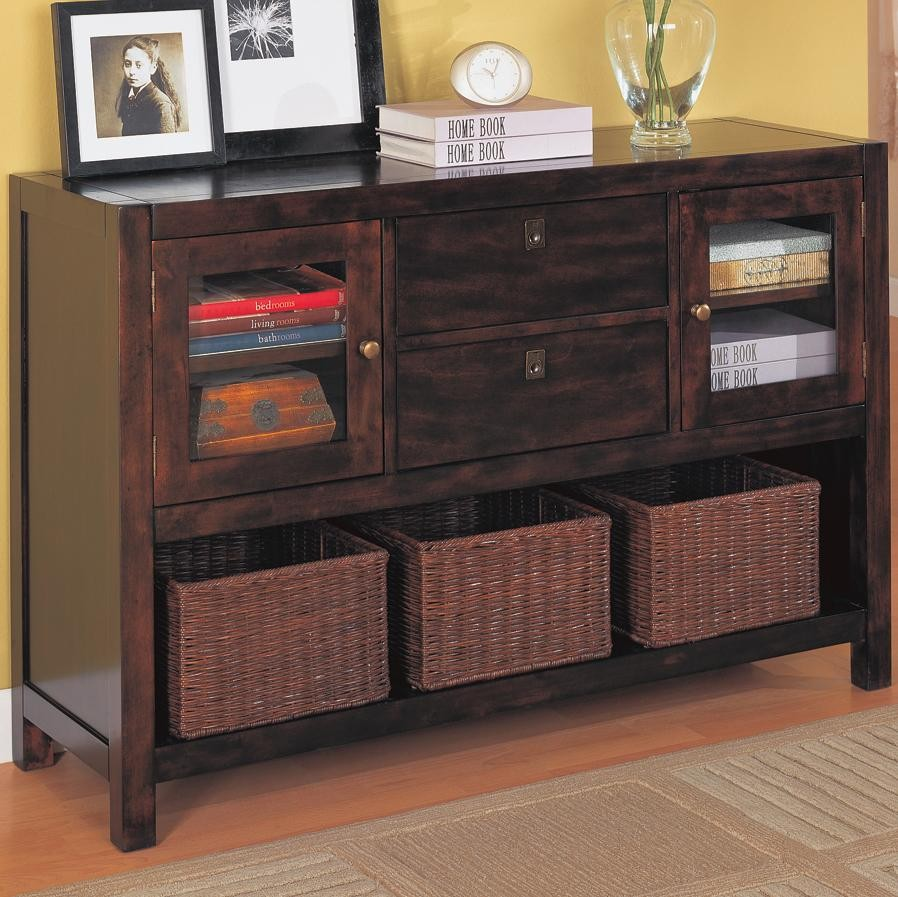 Picture of: Dresser With Wicker Basket Drawers