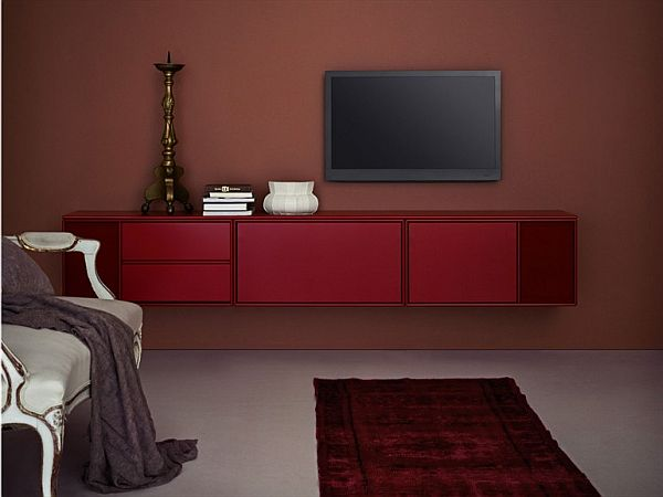 Picture of: Dresser under Wall Mounted TV