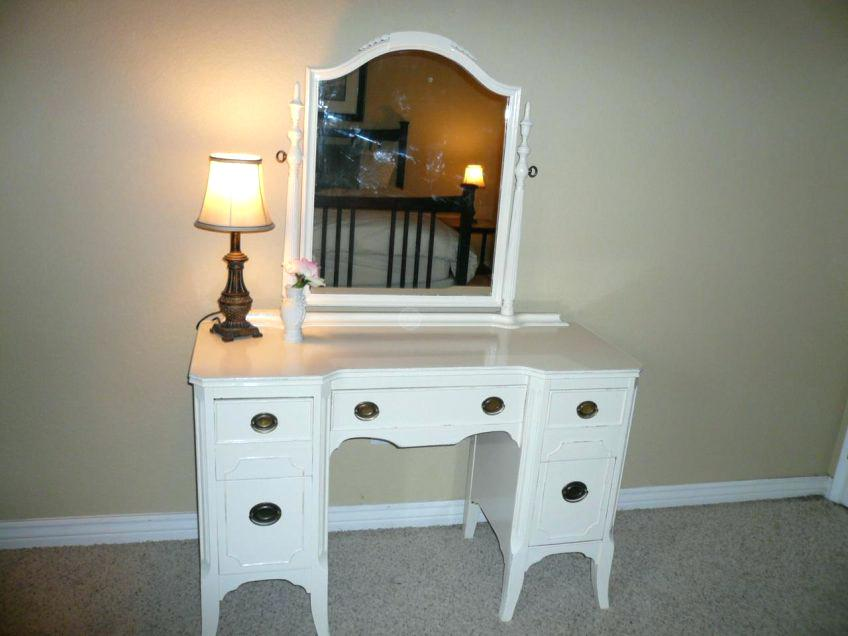 Picture of: Dresser with Mirror and Shelves