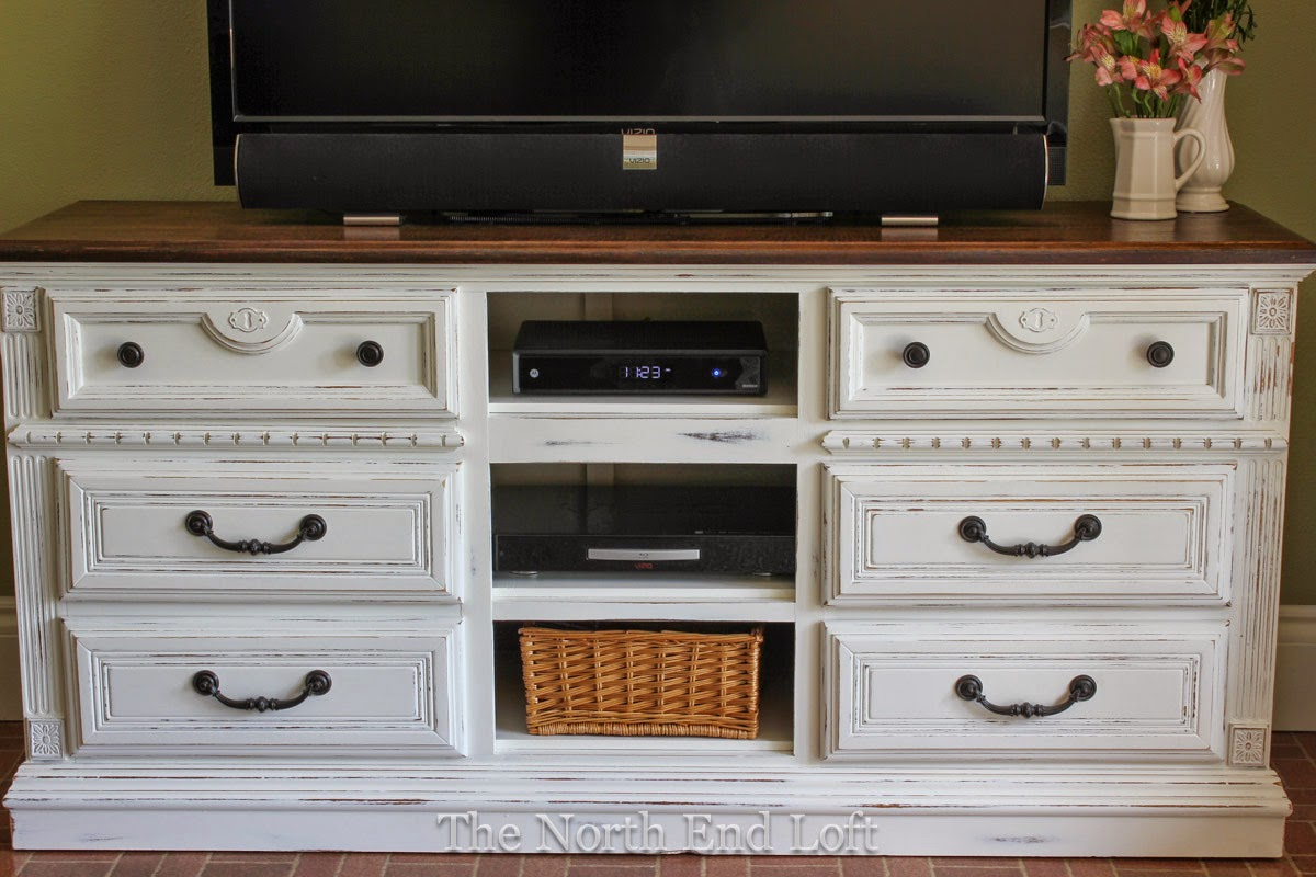 Picture of: Dresser with TV Mount Decorations