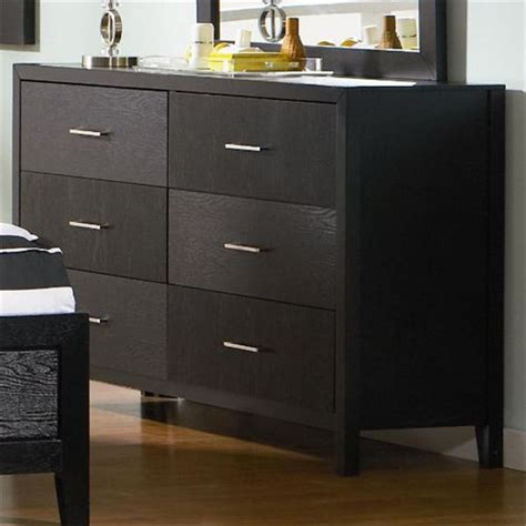 Elegant Black 6 Drawer Dresser
