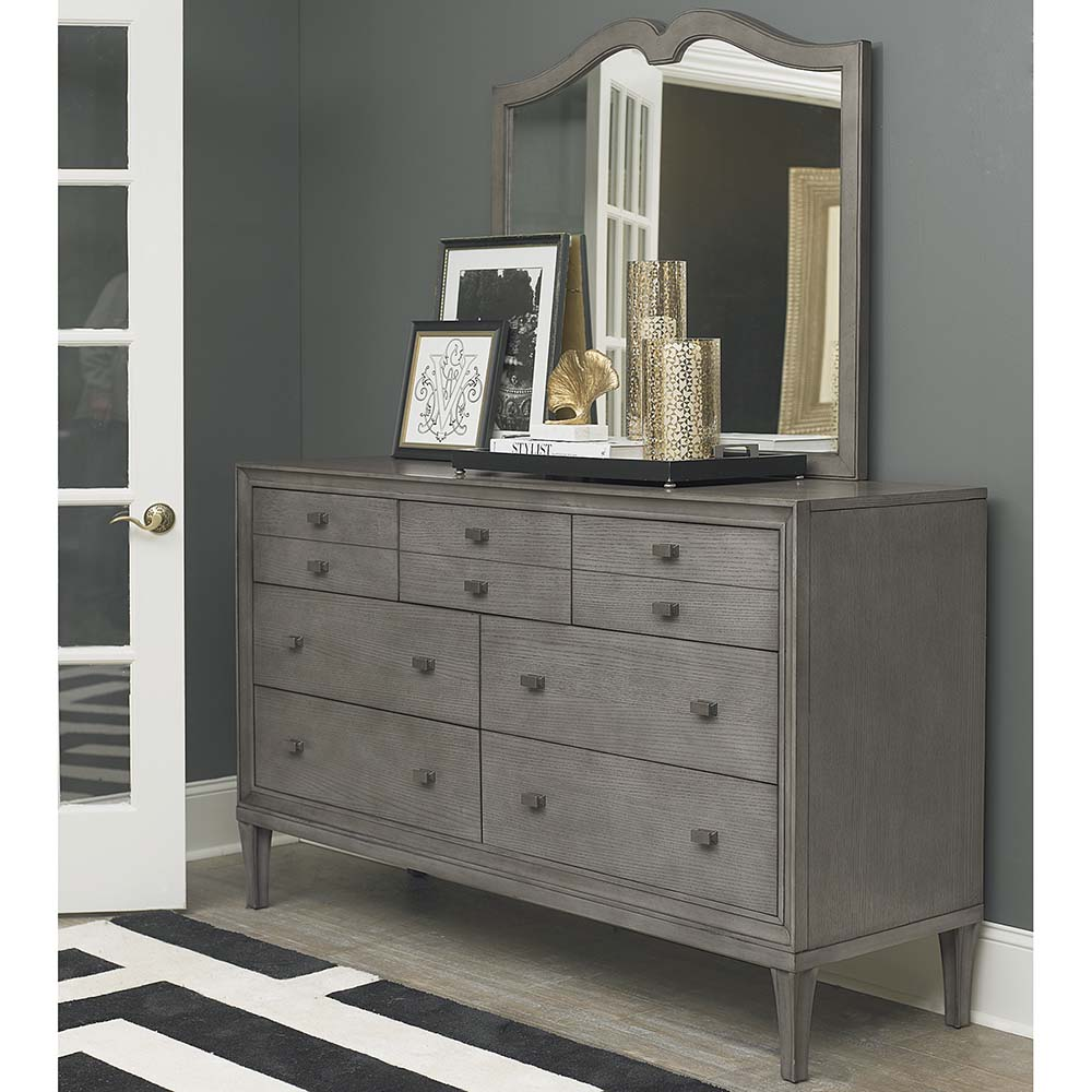 Image of: Elegant Grey Dresser With Mirror