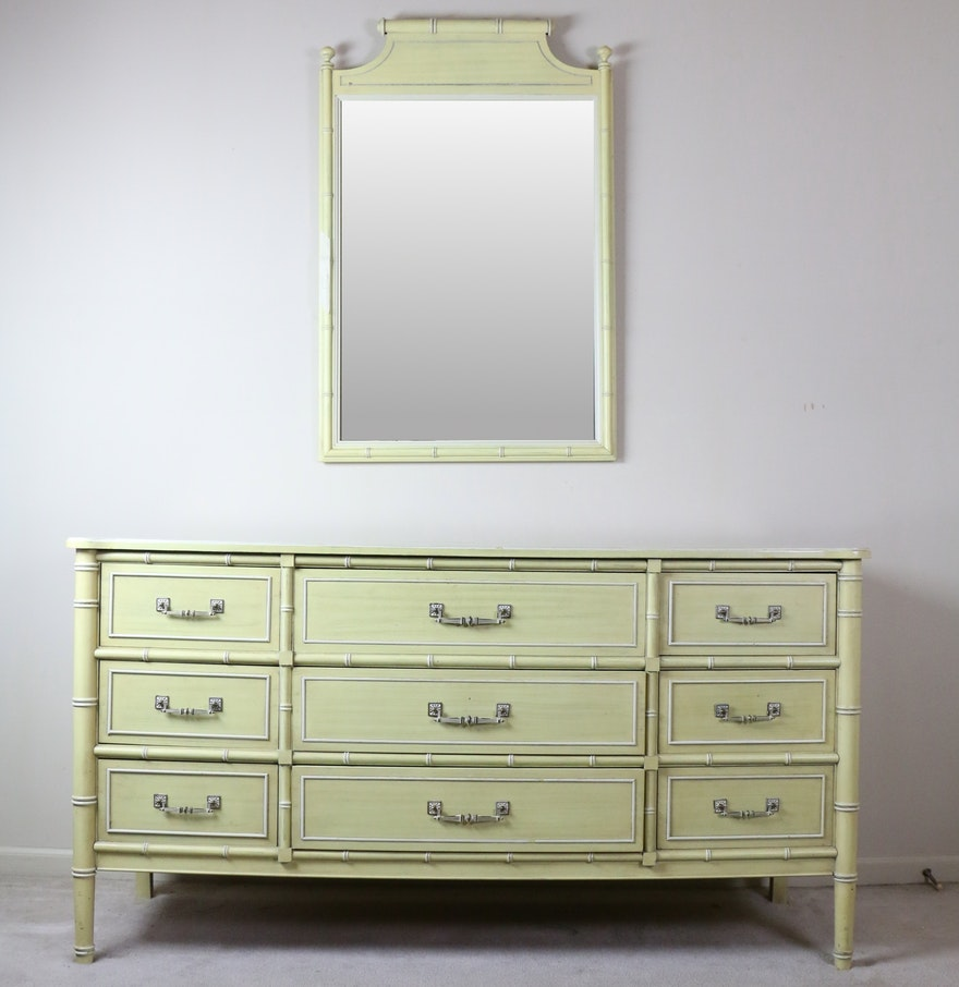 Image of: Faux Bamboo Dresser Furniture