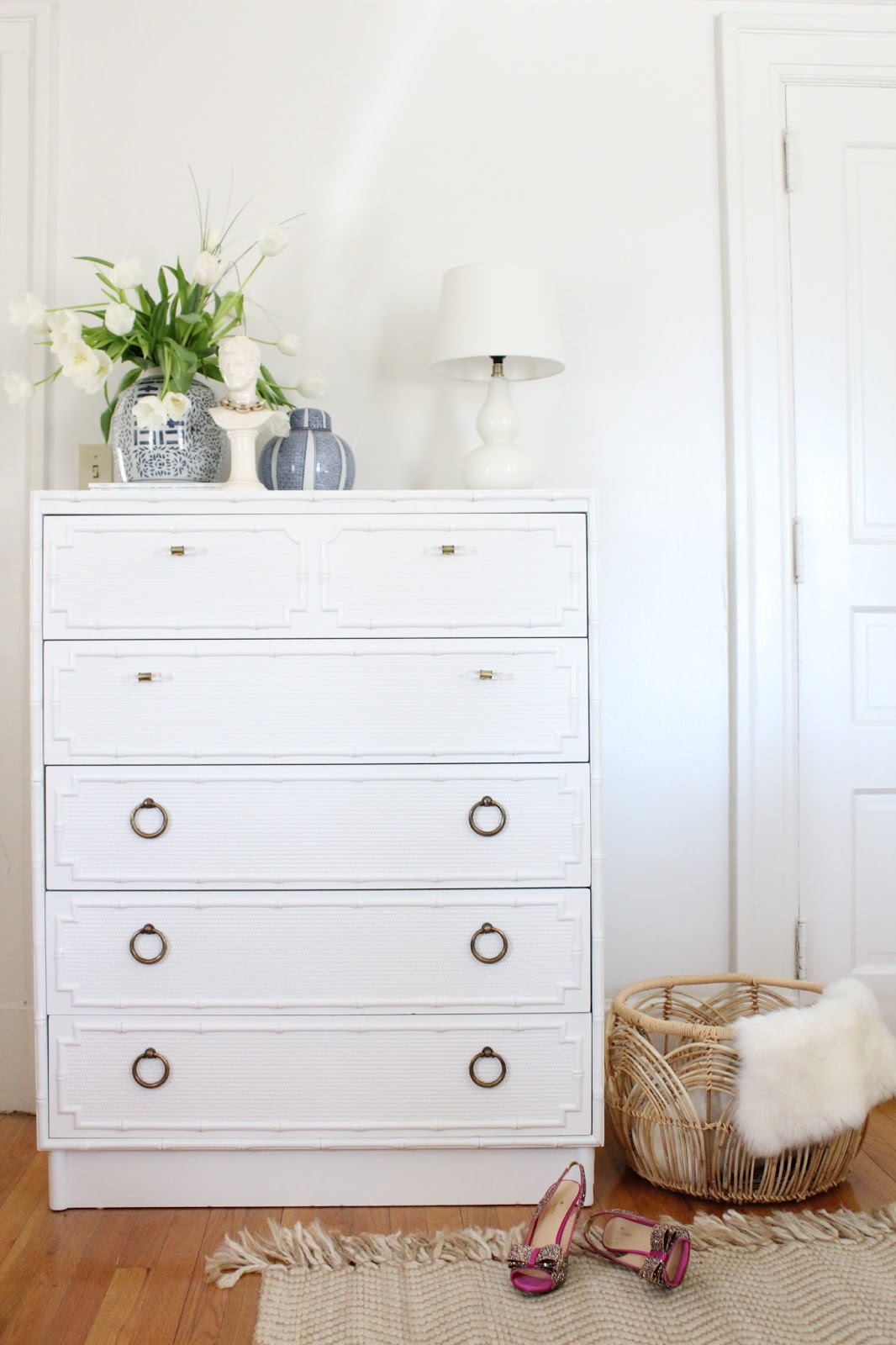 Image of: Faux Bamboo Dresser Small