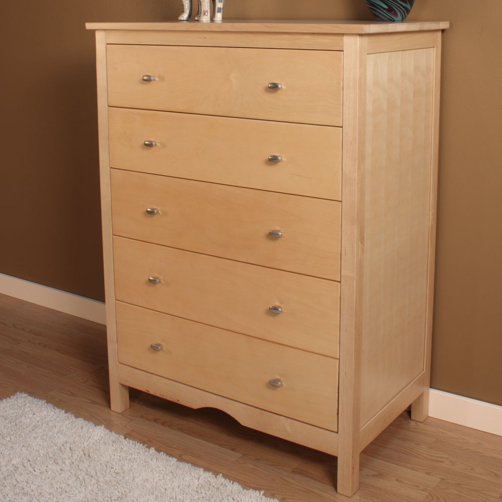 Image of: Five Drawer Hardwood Dresser