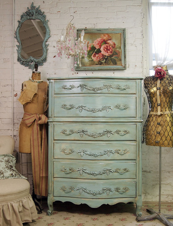 French Country Painted Dresser
