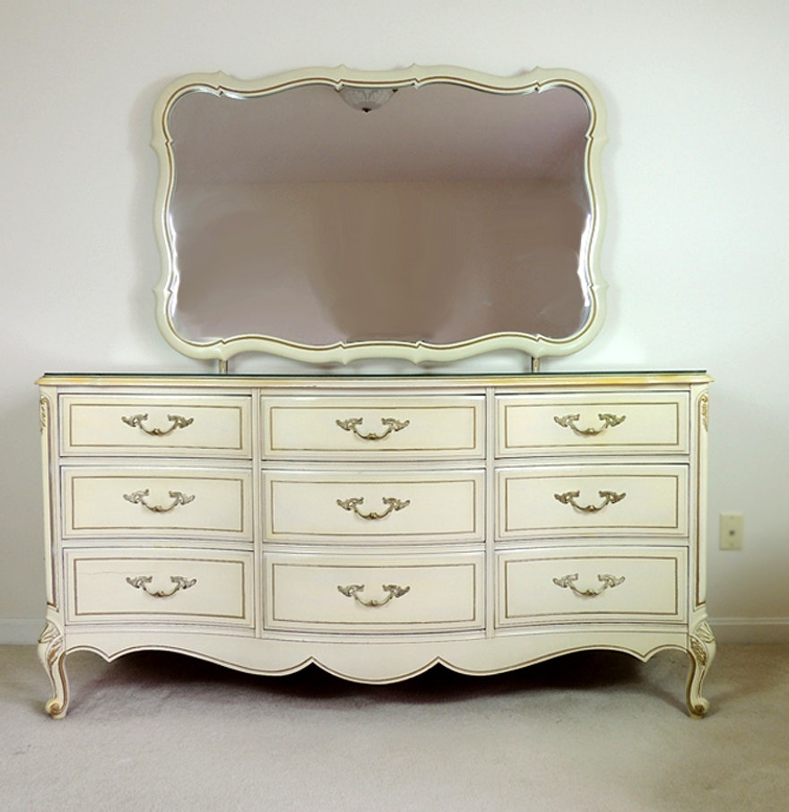 Picture of: French Provincial Chest and Mirror