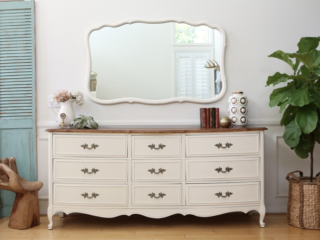 French Provincial Dresser Chalk Paint