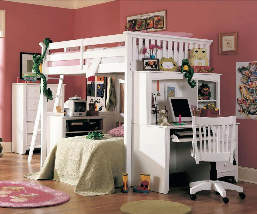 Picture of: Full Loft Bed with Dresser Underneath Designs