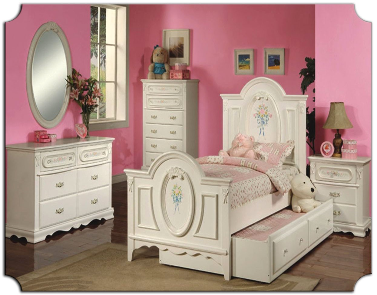 Picture of: Girl Dresser With Mirror Combination