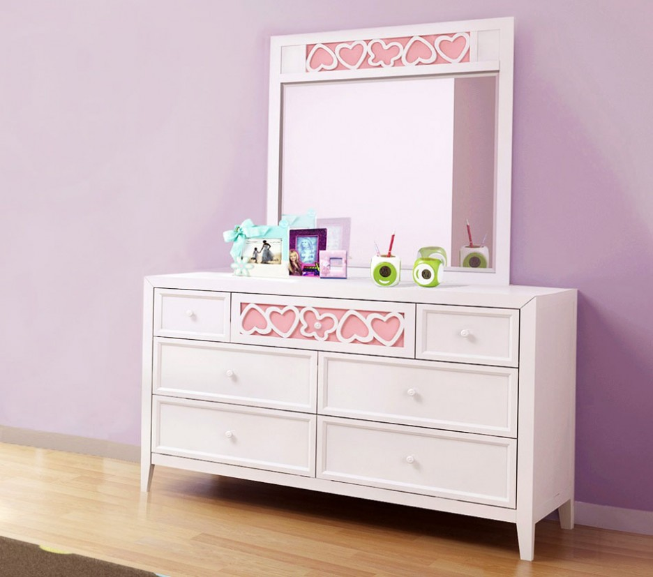 Picture of: Girls Baby Dresser Changing Table