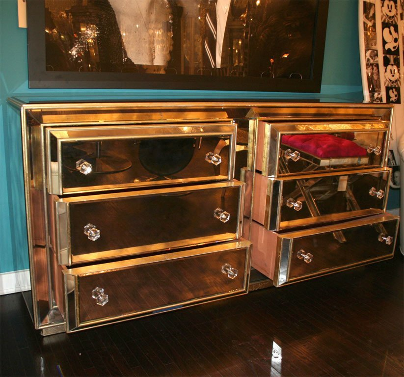 Picture of: Gold Mirrored Dresser