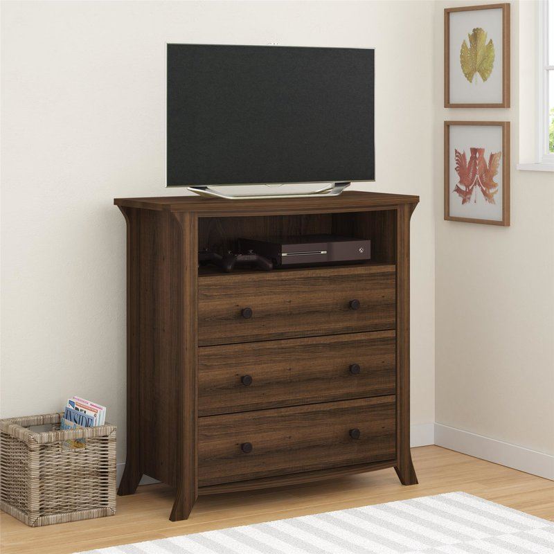 Picture of: Golden Oak Dresser Tv