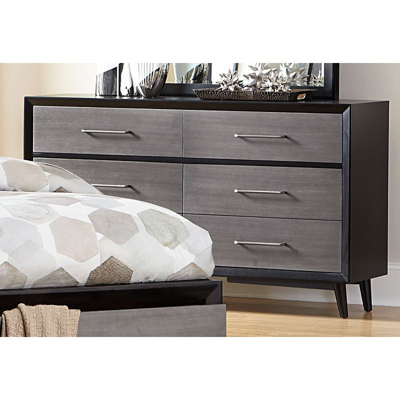 Picture of: Gray Black Dresser