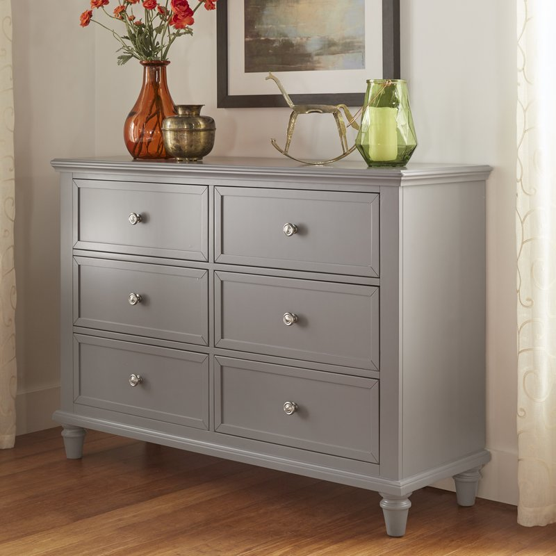 Image of: Gray Chest Distressed Dresser