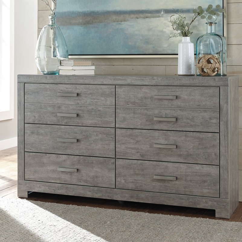 Picture of: Gray Distressed Dresser Paint Color