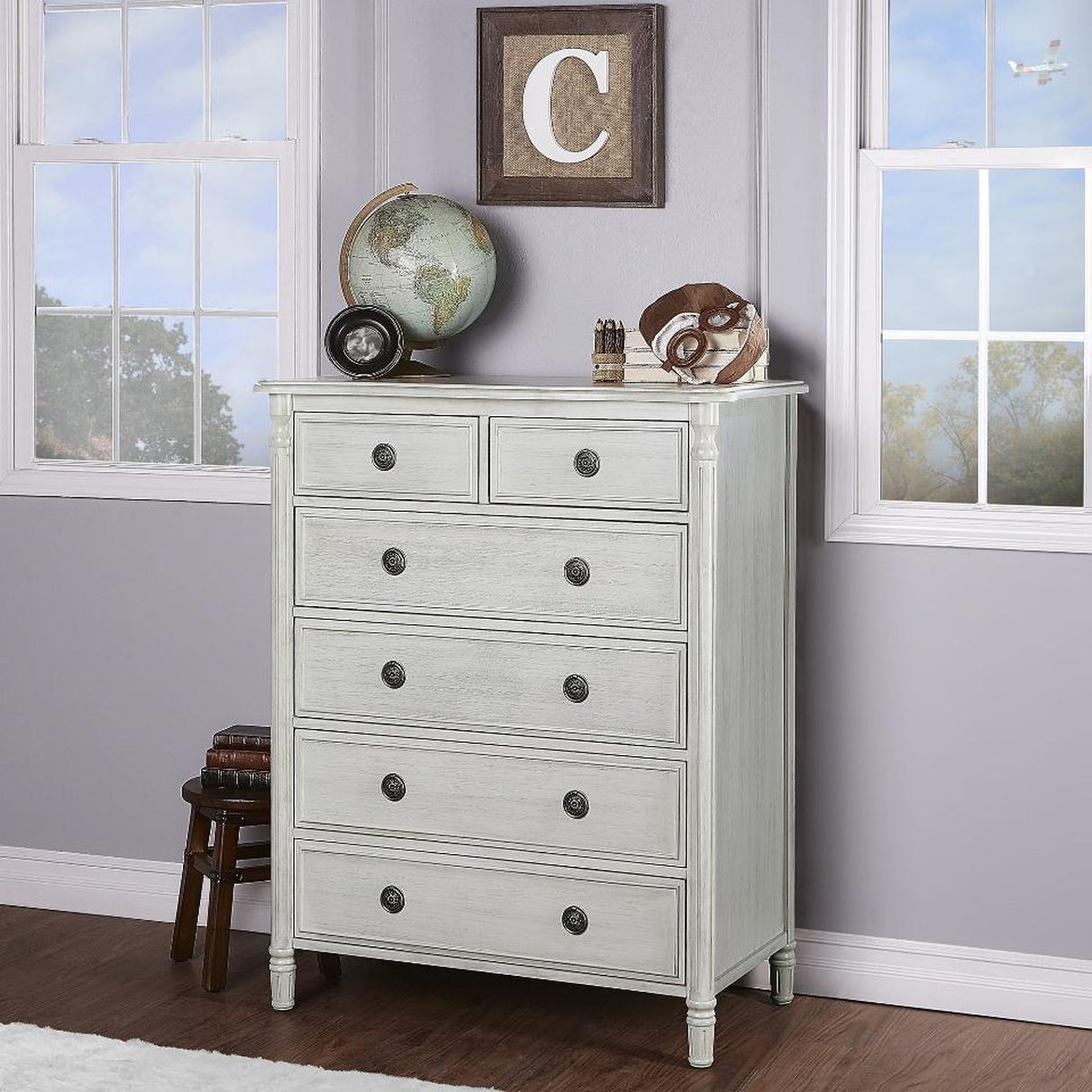 Picture of: Gray Dresser With Drawers Small