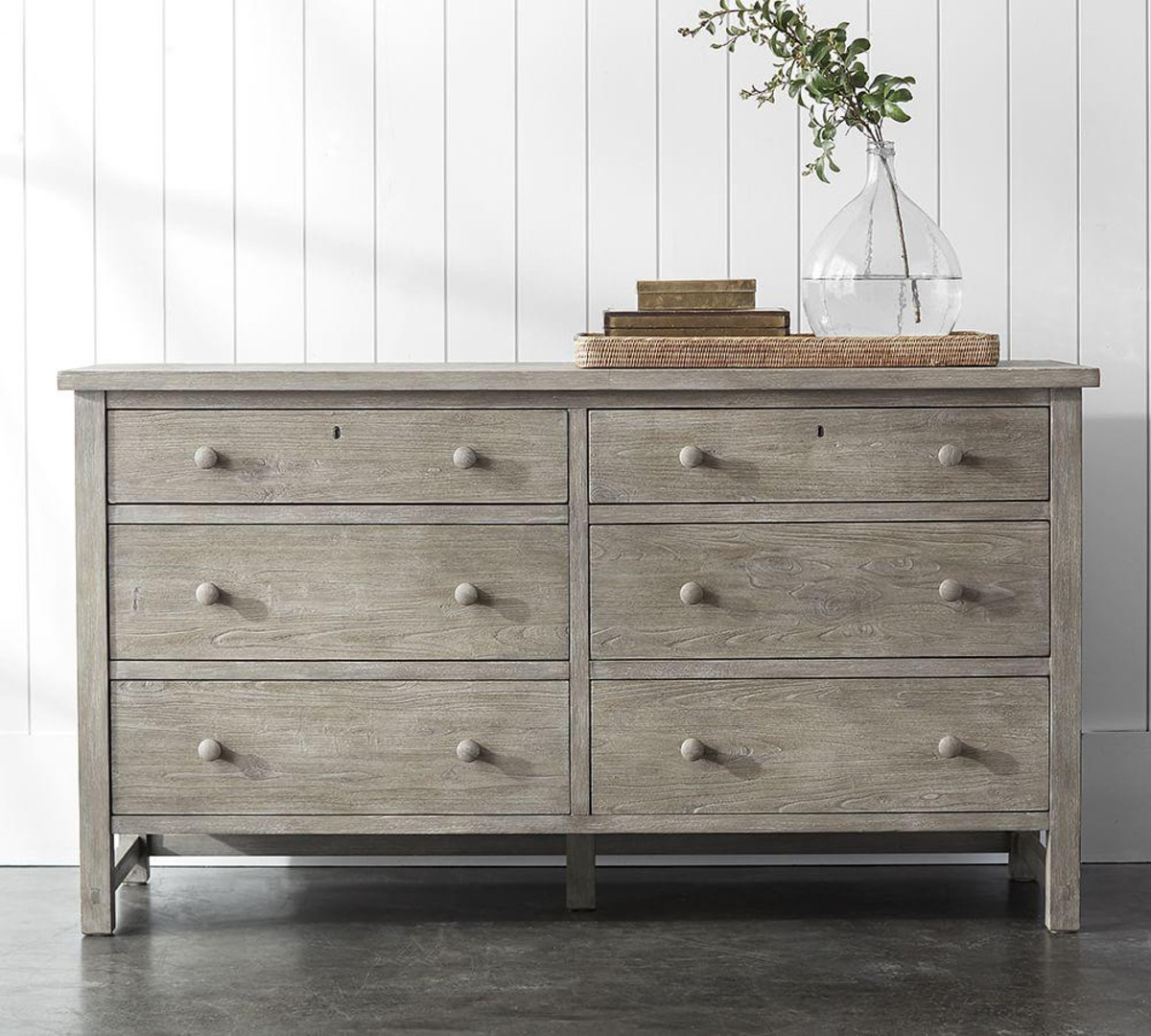 Gray Farmhouse Dresser
