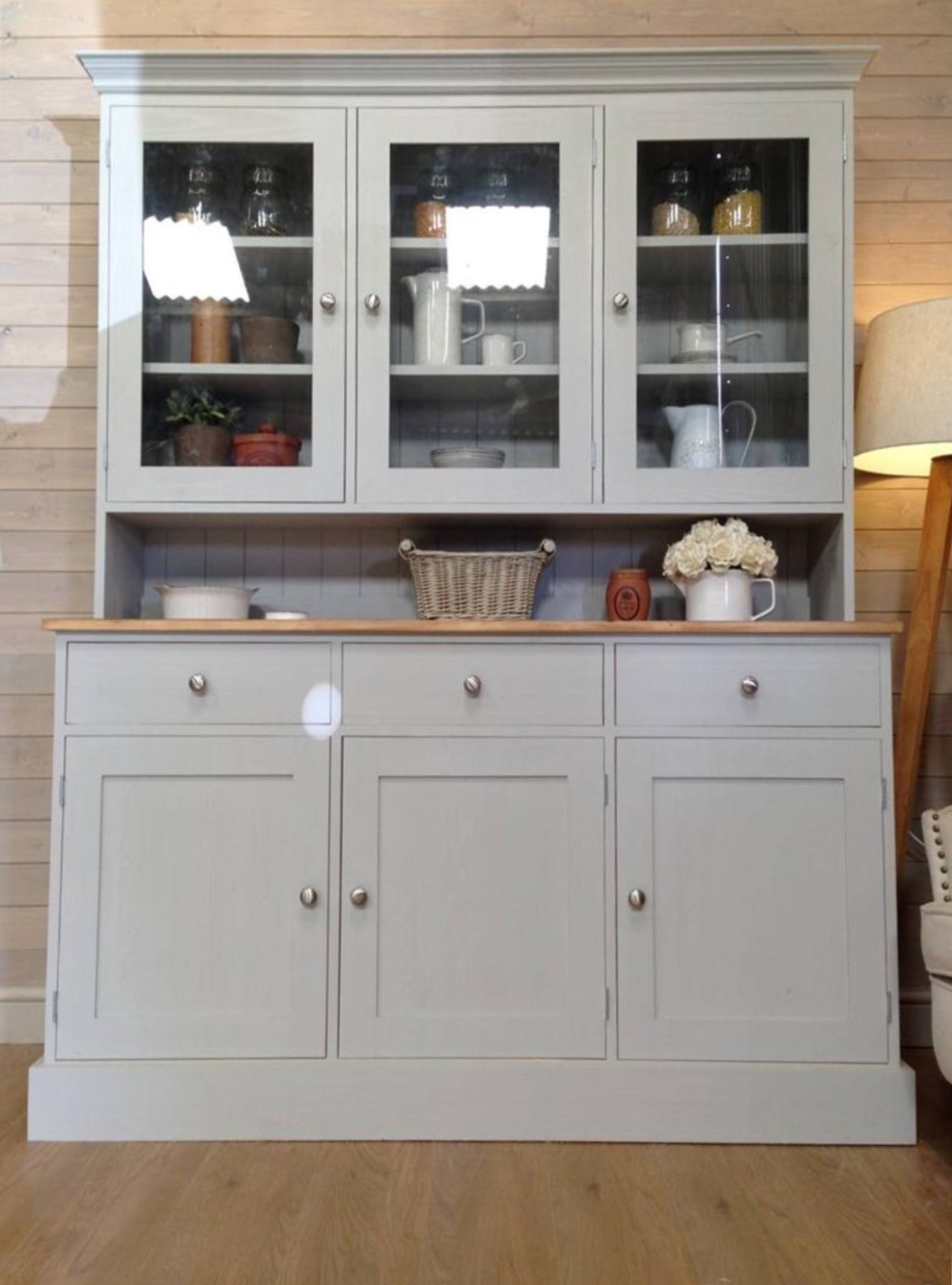 Picture of: Gray Welsh Dresser Antique