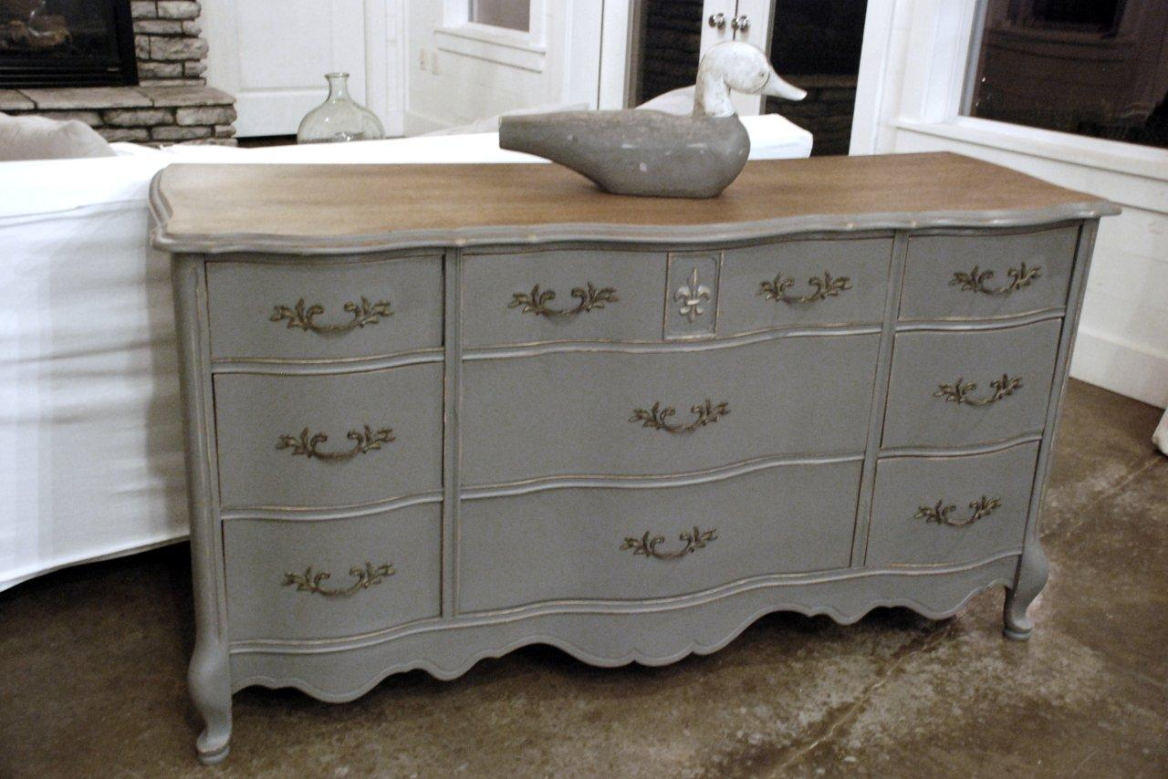 Picture of: Grey Distressed Dresser Color