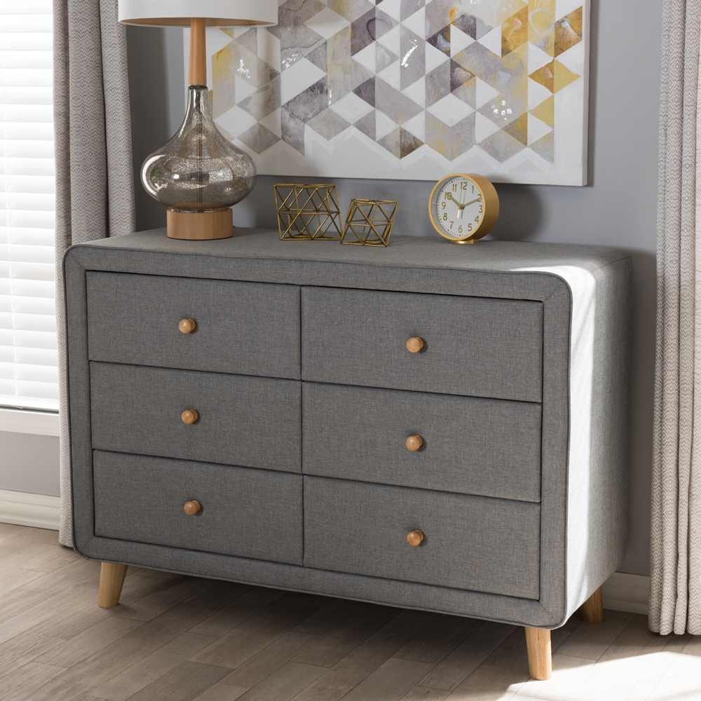 Image of: Grey Distressed Dresser Danish