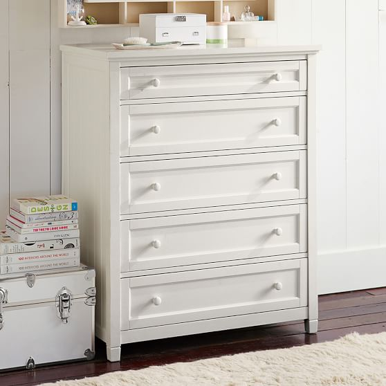 Image of: Grey Five Drawer Dresser