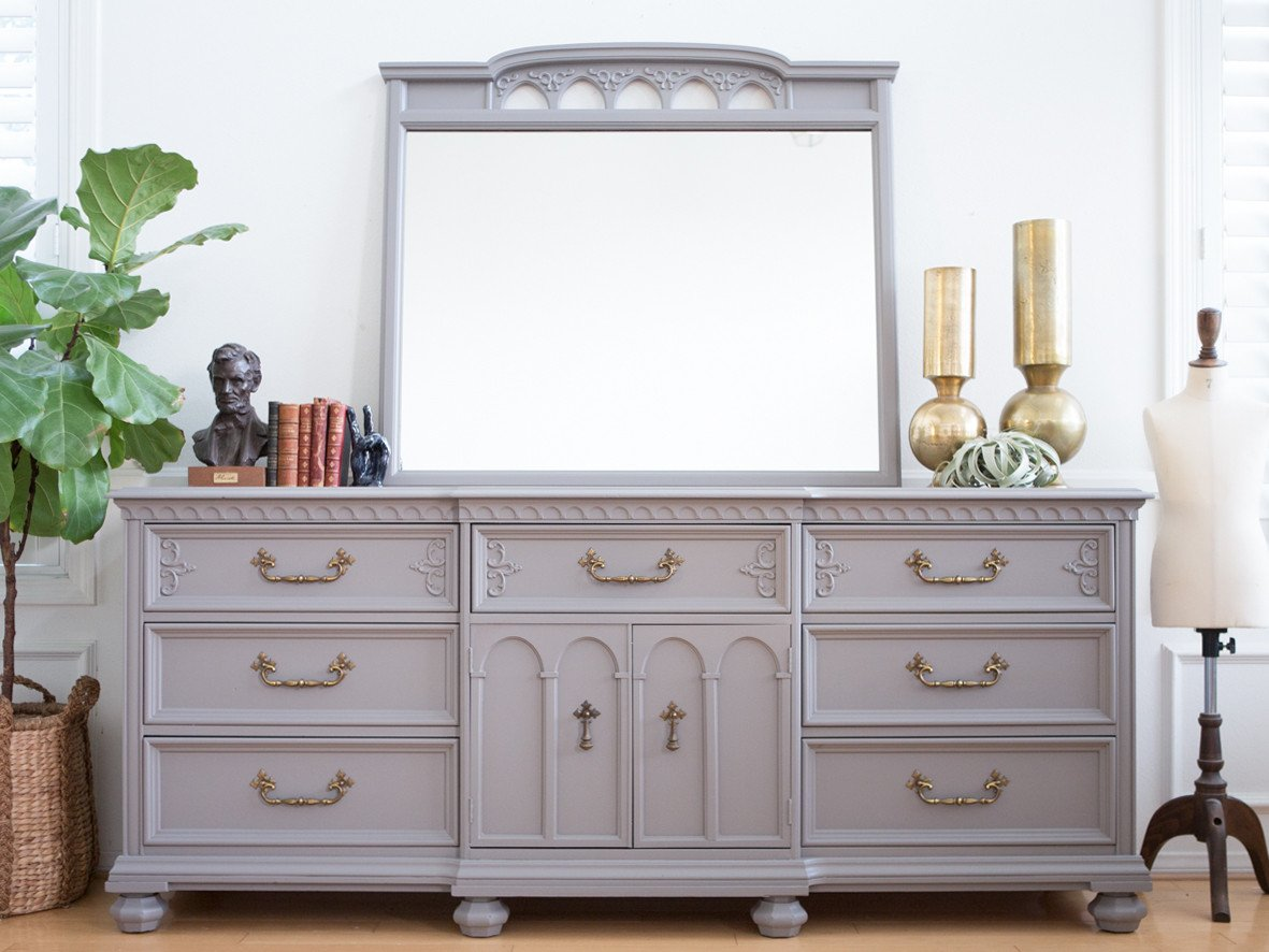 Picture of: Grey Shabby Chic Dresser