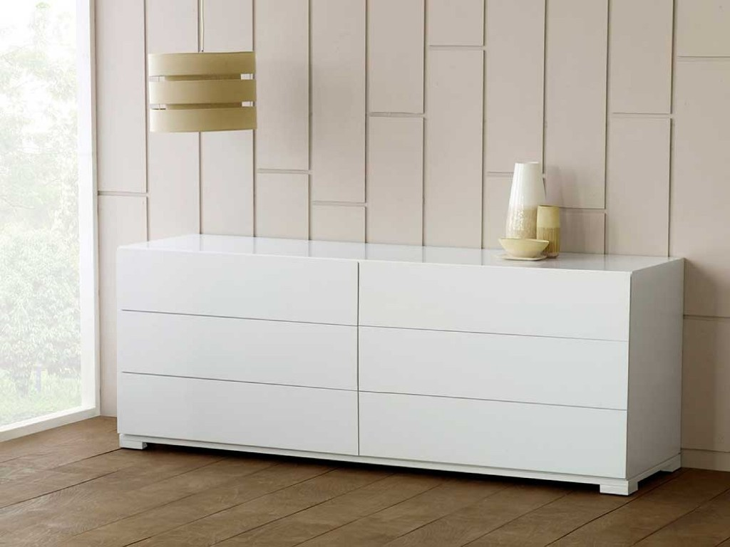 Picture of: High Gloss Black Lacquer Dresser