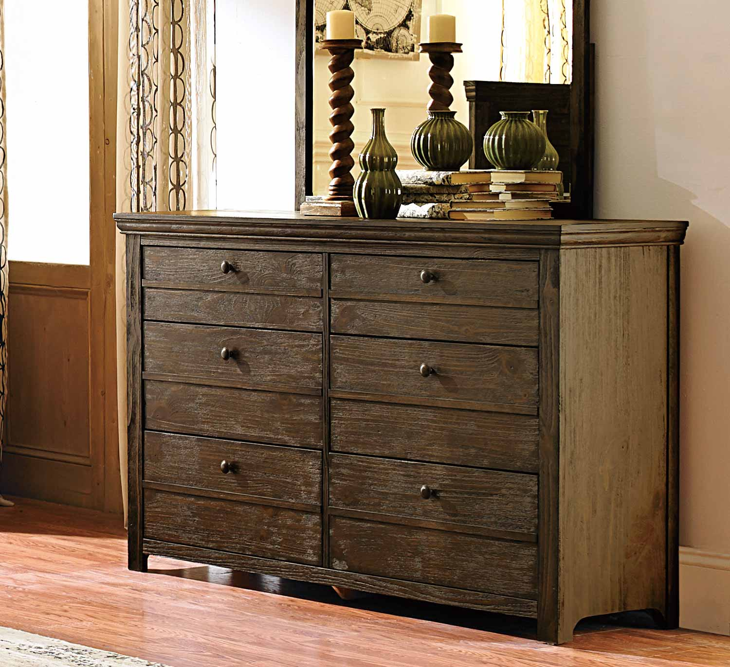 Homeelegance Grey Dresser And Nightstand