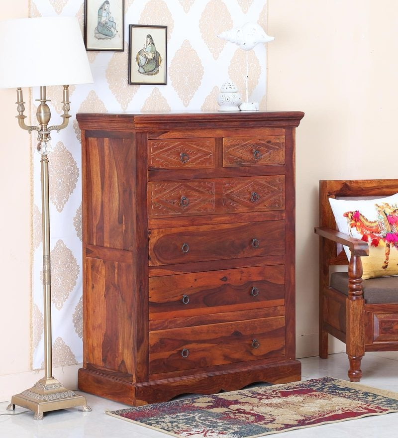 Picture of: Honey Oak Dresser Chest
