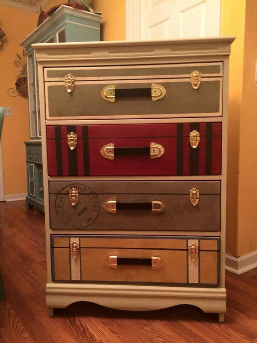 Picture of: How To Make Suitcase Dresser