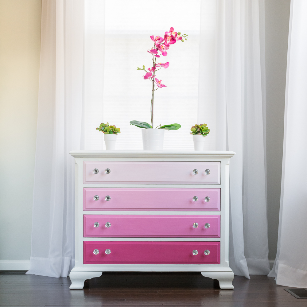 How To Ombre Furniture in Pink