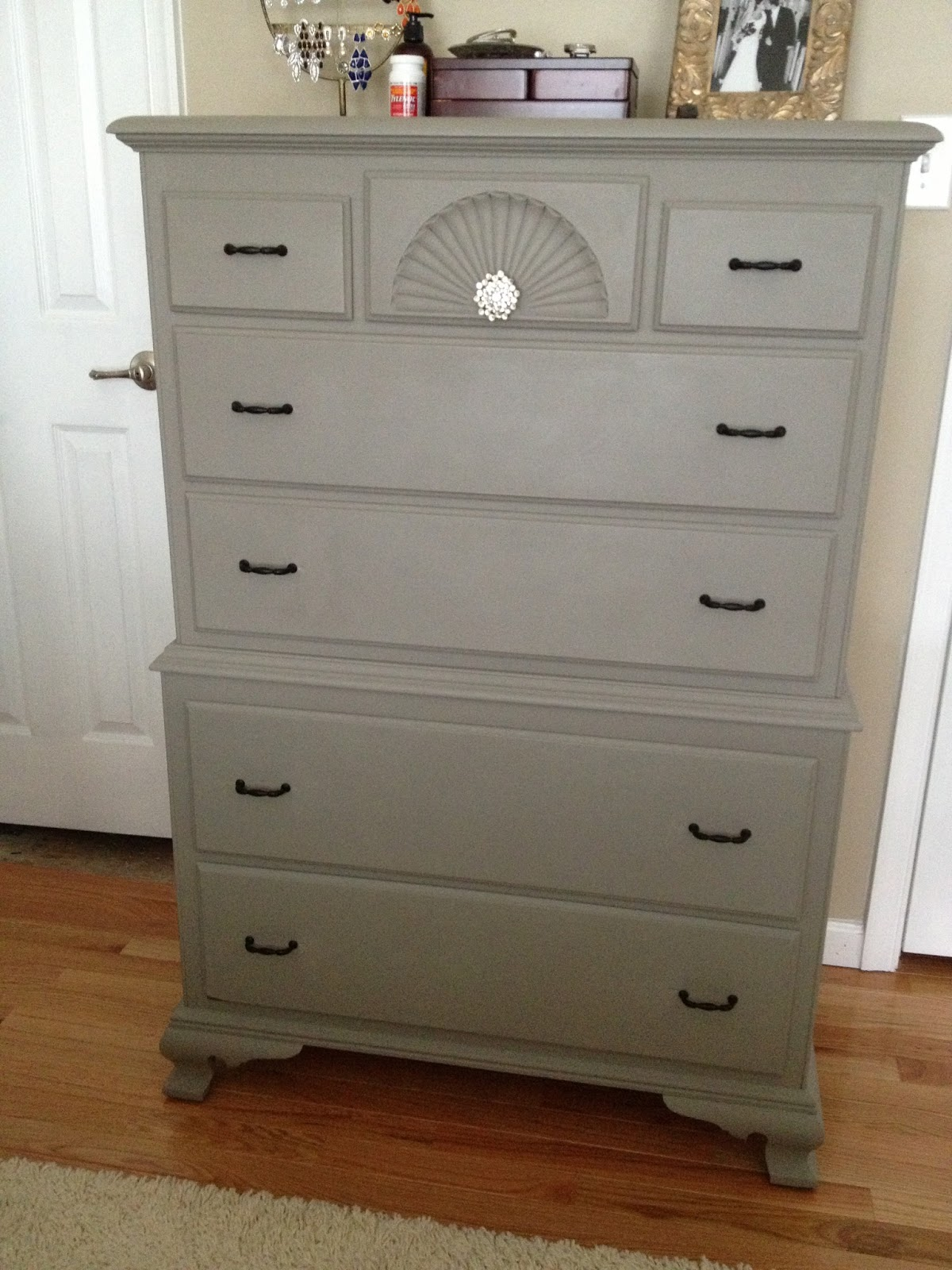 How To Paint A Dresser Gray