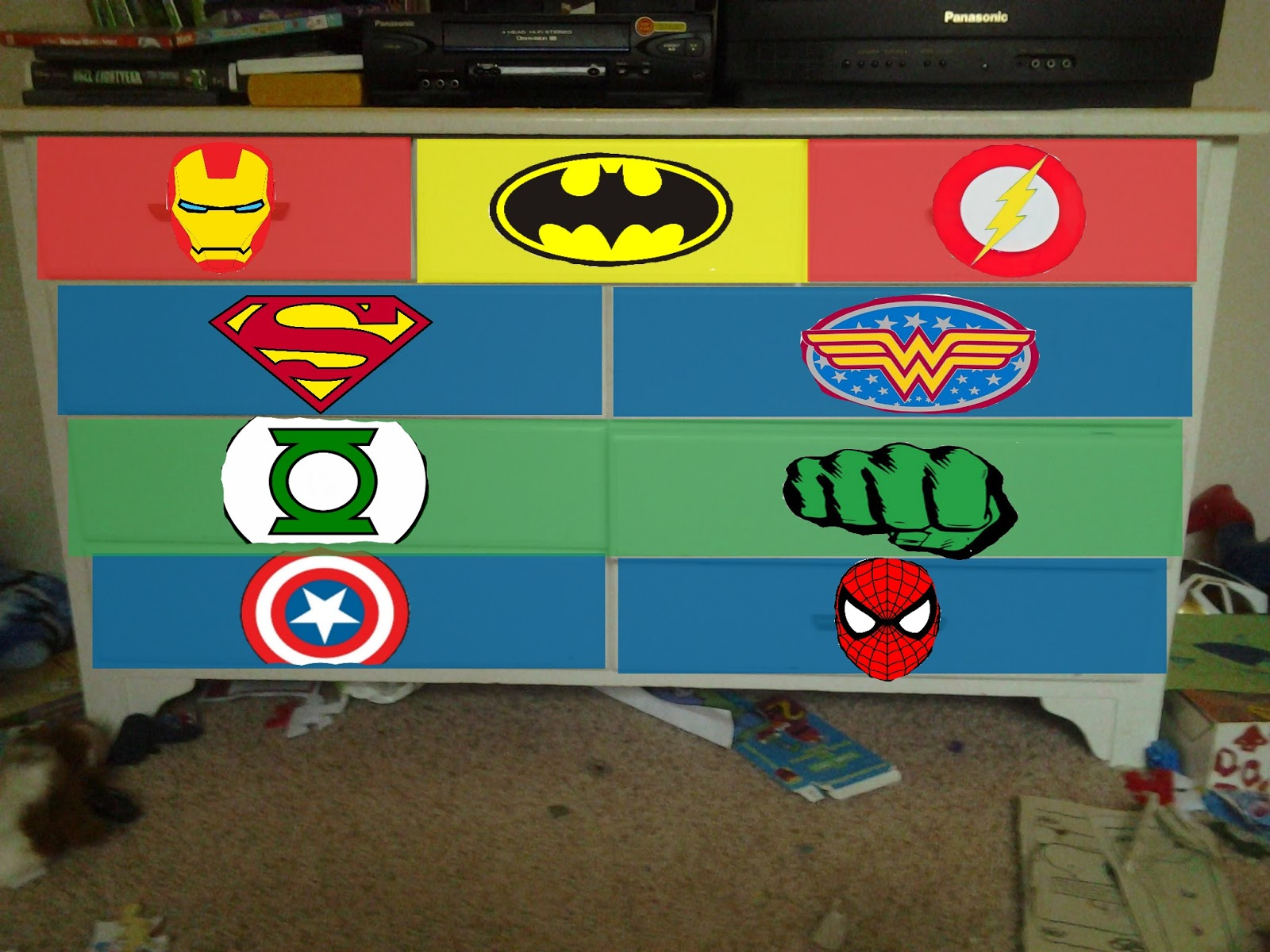 Picture of: How to Make a Superhero Dresser