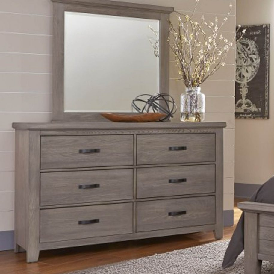 Image of: Ikea Grey Dresser with Flowers