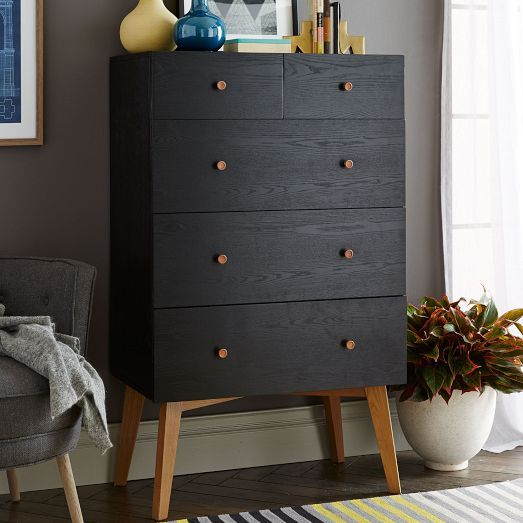 Ikea Tall Black Dresser