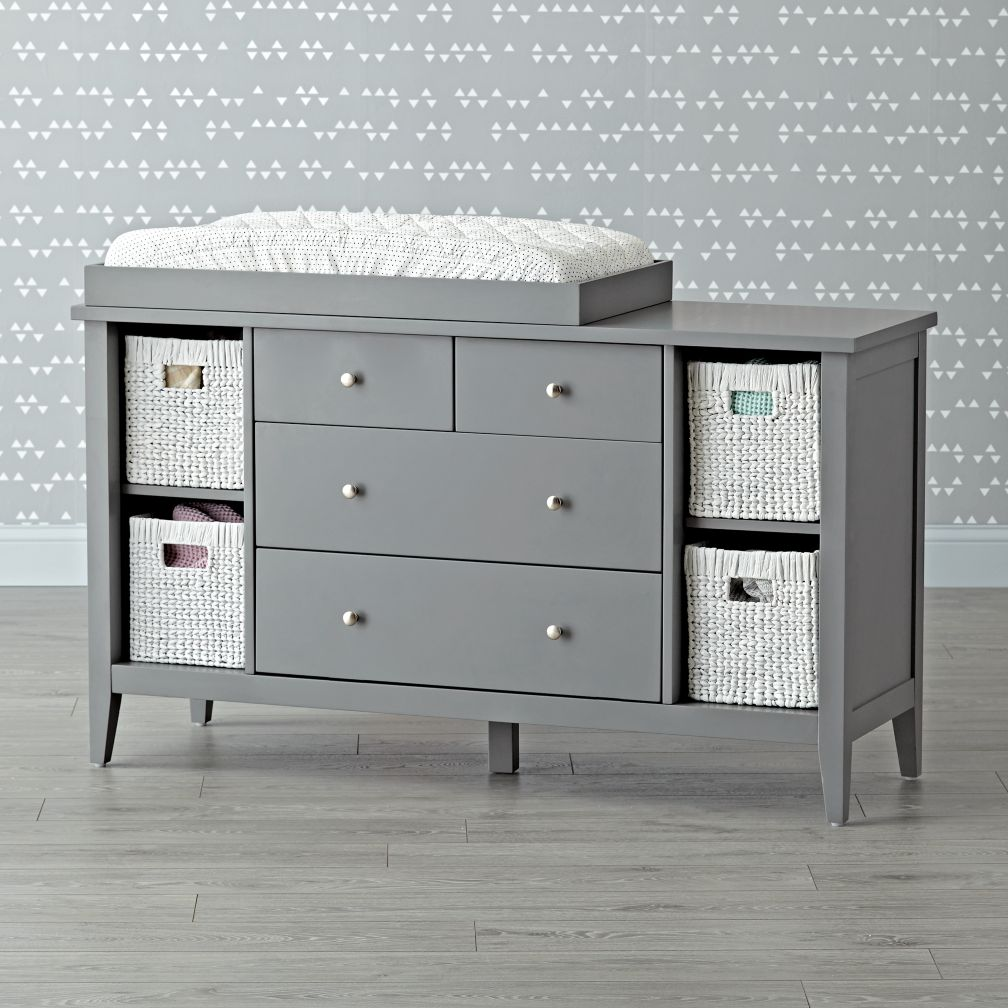 Picture of: Jenny Lind 4 Drawer Dresser Gray
