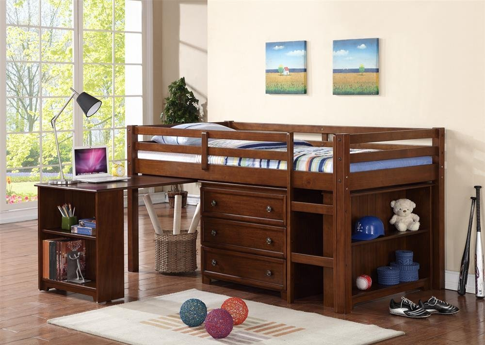 Picture of: Kids Bed with Dresser Underneath