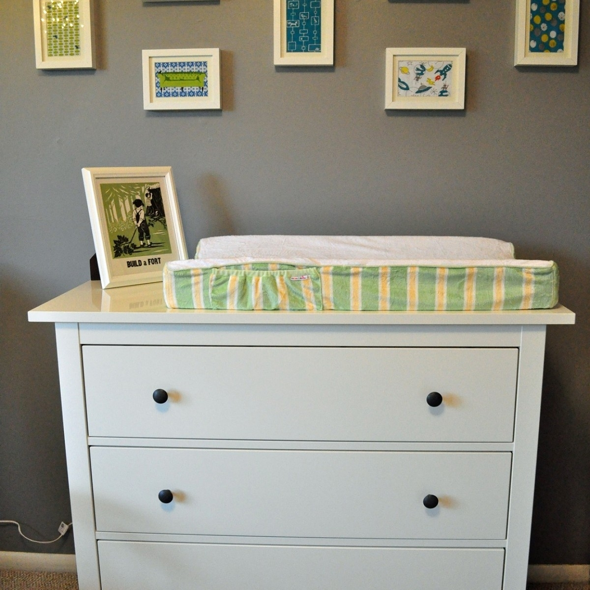 Picture of: Large White Changing Table