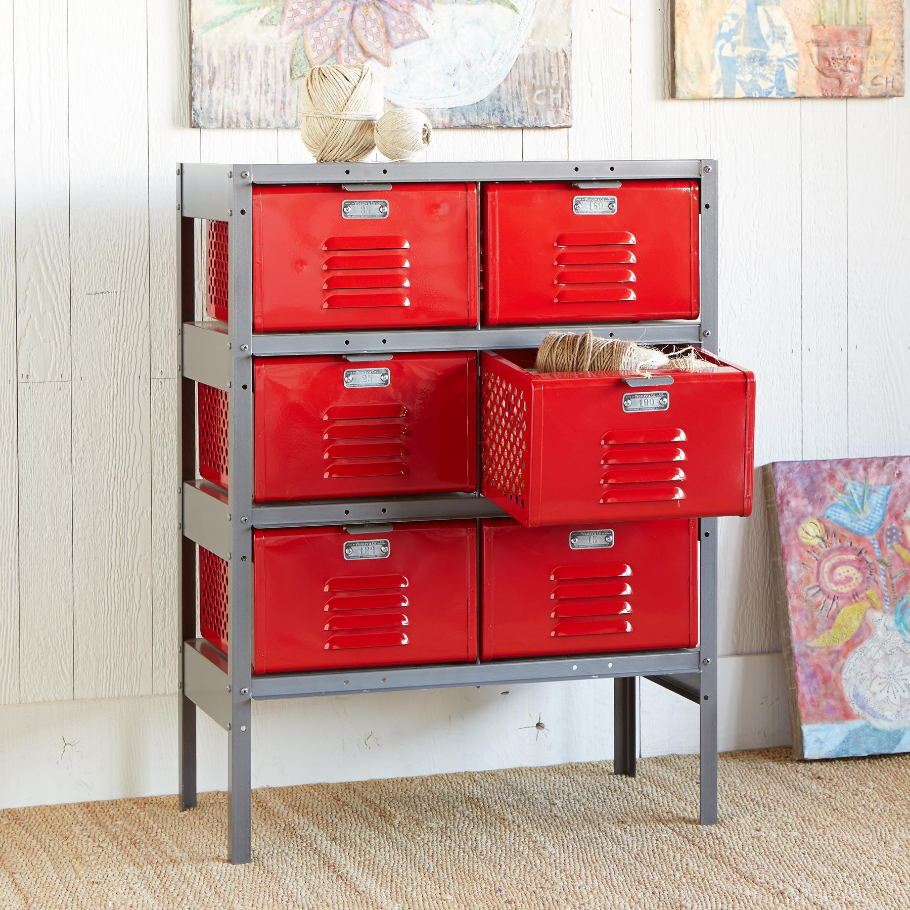 Picture of: Locker Dressers in Red