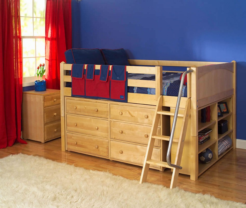 Picture of: Loft Bed With Dresser And Desk