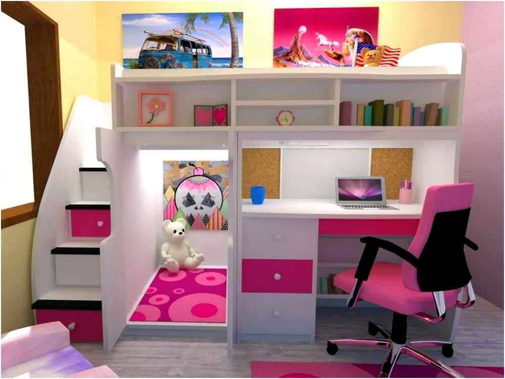 Picture of: Loft Bed with Bookcase Decorations