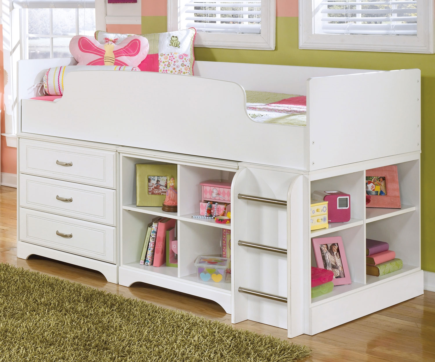 Picture of: Cute Loft Bed with Desk and Storage