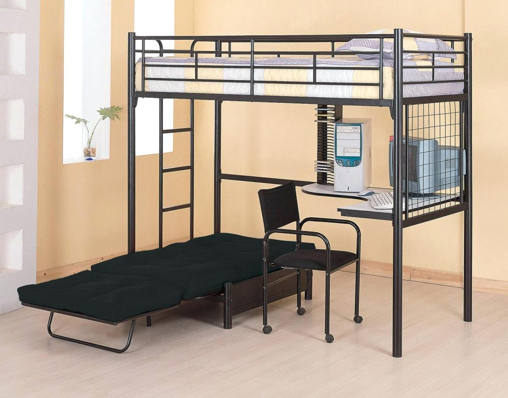 Picture of: Loft Bed with Stairs Plans